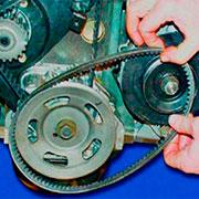 Снятие, замена и натяжение ремня генератора на ВАЗ 2108, 2109, 21099