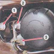Снятие и замена передней фары на ВАЗ 2108, 2109, 21099